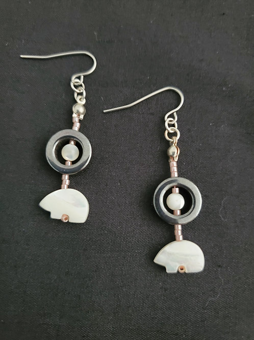 Mother of Pearl Pink Earrings