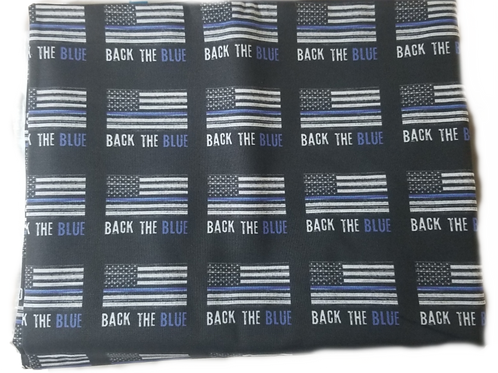 Blue Line Face Masks with Filter Pocket