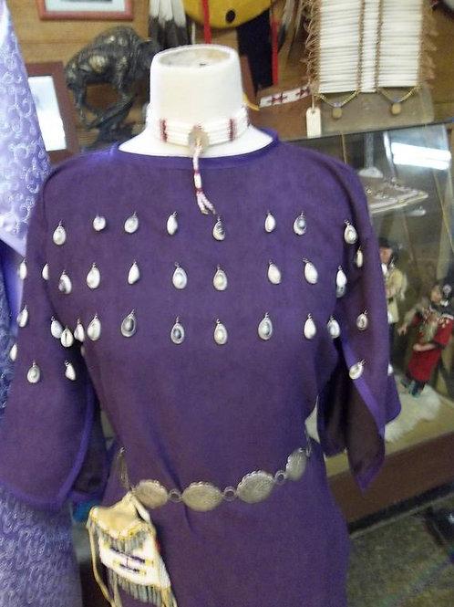 Children's Purple Suede Cloth Dress