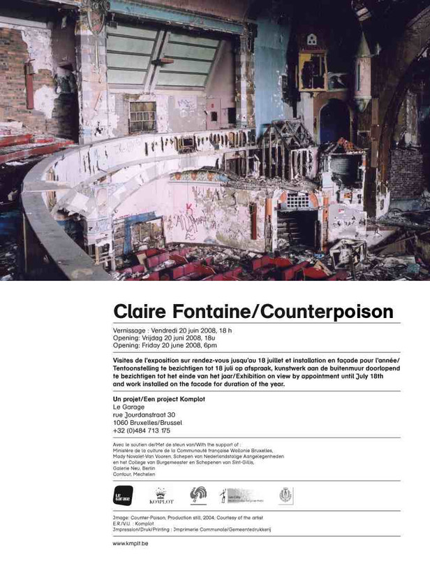 COUNTER-POISON. Claire Fontaine
