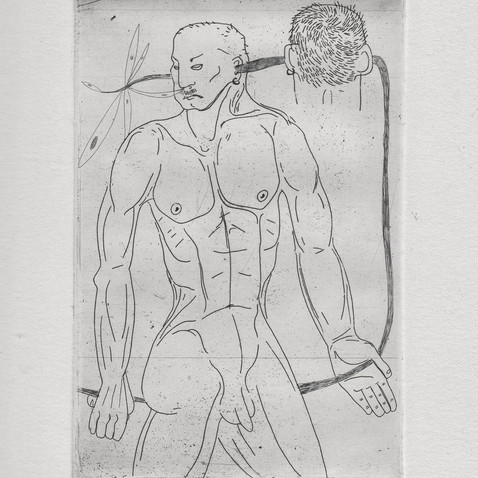 """etching, 3/3 , """"atradus"""", 2016m."""