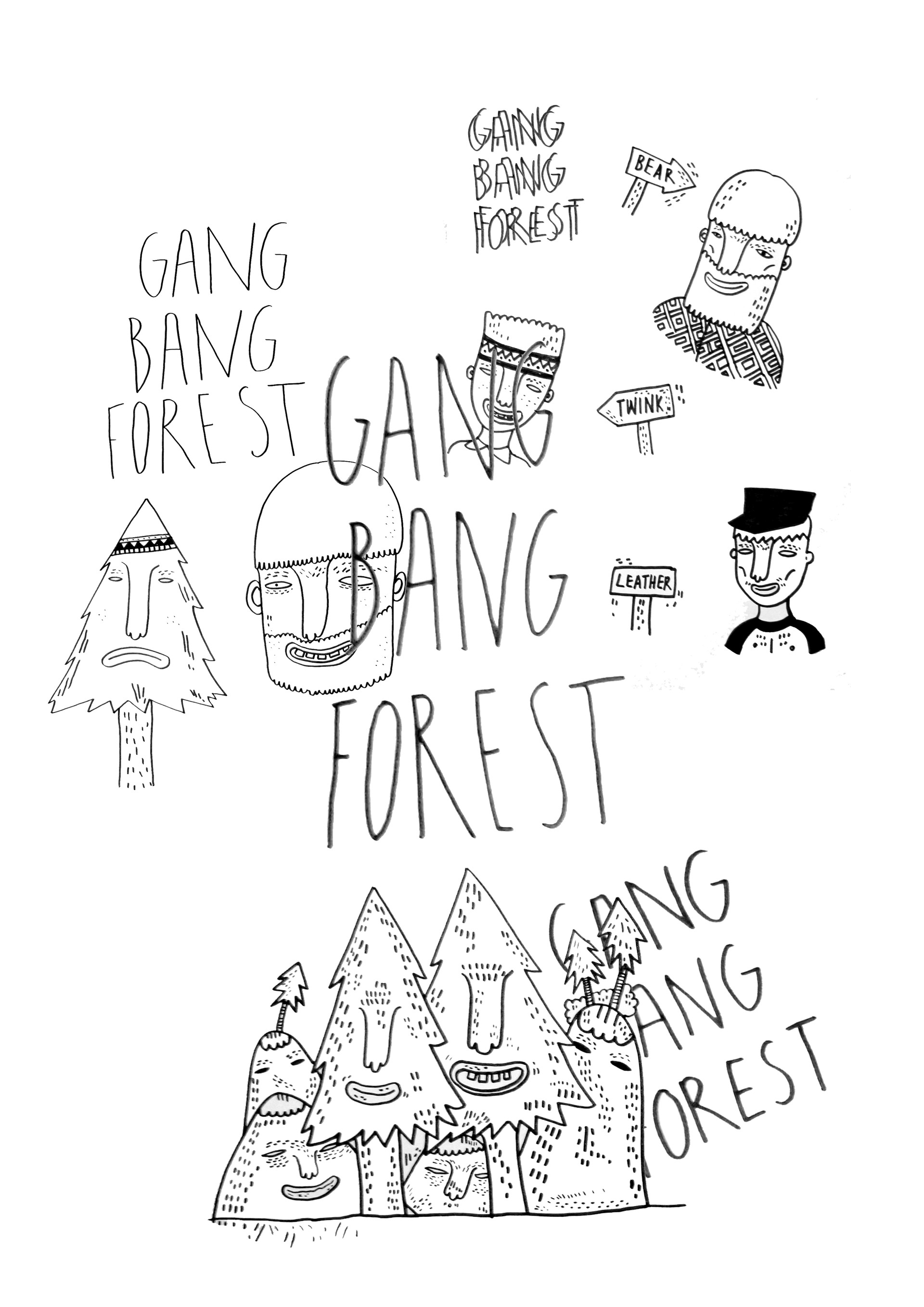 GANG BANG FOREST