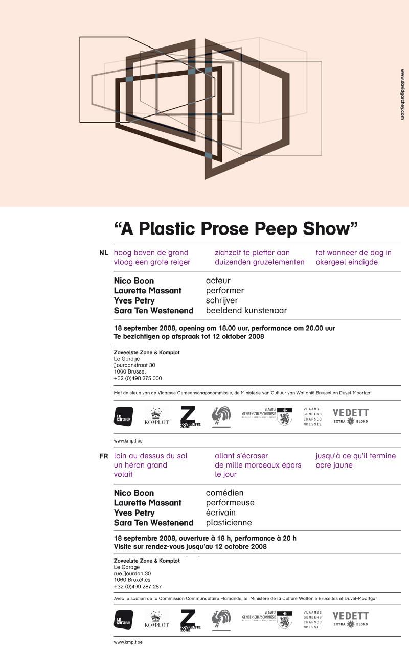 A Plastic Prose Peep Show