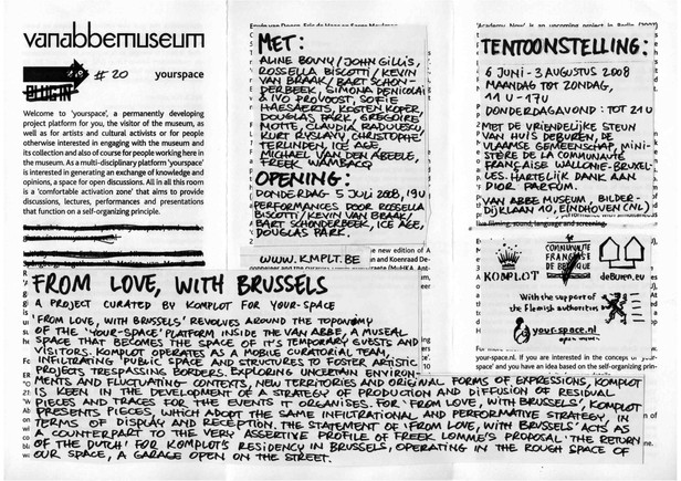 From Love, With Brussels. Komplot 2008
