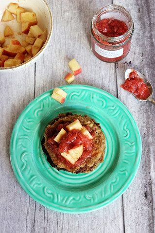 Banana and Apple Flaxmeal Pancakes