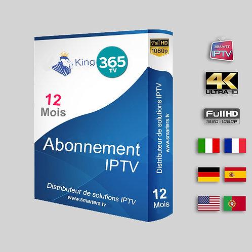 KING365 TV - Full HD  4 K -12 mois