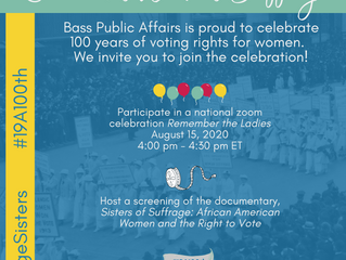 Remember the Ladies: Celebrating the 100th Anniversary of the 19th Amendment