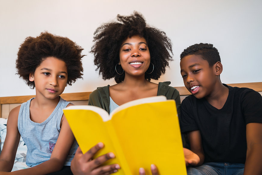 BGB-afro-mother-reading-a-book-to-her-ch