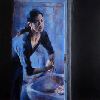 Ana at the mirror