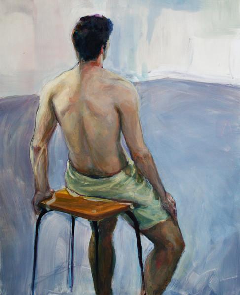 study of a man sitting