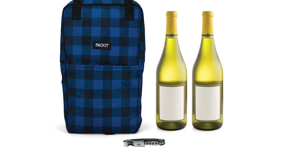 תיק שומר קור כפול לבקבוקי שתיה באפלו כחול נייבי