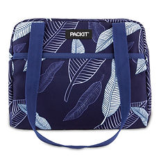 2020_Hampton-Lunch-Bag_Navy-Leaves_Front