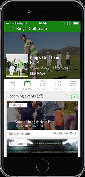 Golf groups