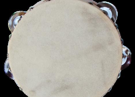 טמבורין 6״ - עור לבן