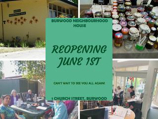 Grand Re-opening of Burwood Neighbourhood House on June 1st