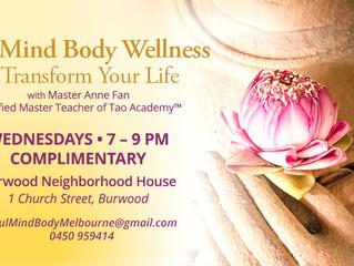 Complimentary Soul, Mind, Body, Wellness class!