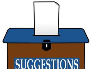 We now have an online suggestions box!
