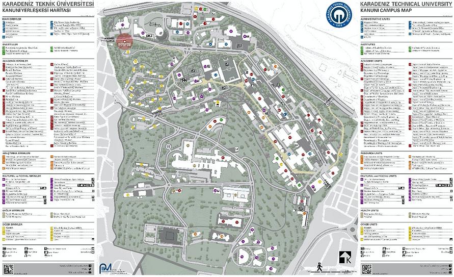 Karadeniz Teknik Üniversitesi Yerleşke Haritası