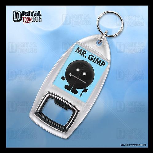 Mr Gimp Keyring + Bottle Opener