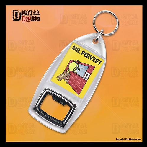 Mr Pervert Keyring + Bottle Opener