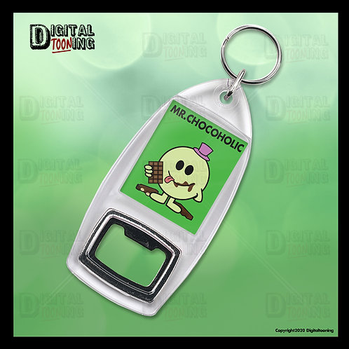 Mr Chocoholic Keyring + Bottle Opener