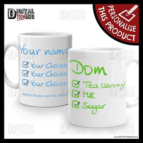 2 x Mug Set - Drink Selection
