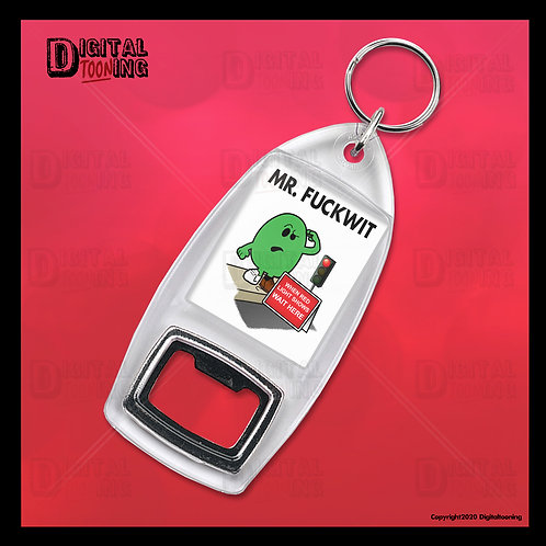 Mr Fuckwit Keyring + Bottle Opener