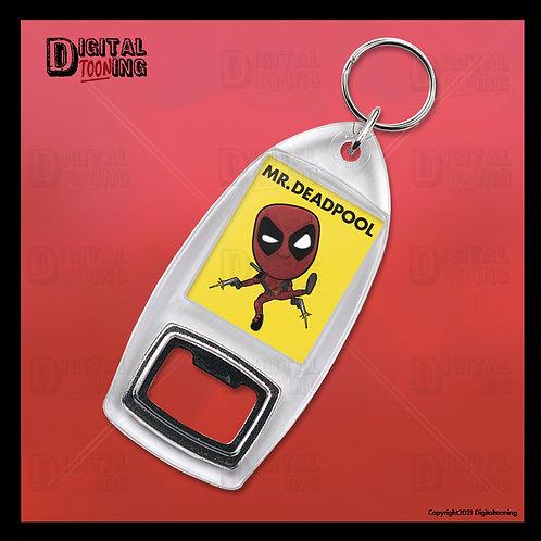 Mr Deadpool Keyring + Bottle Opener