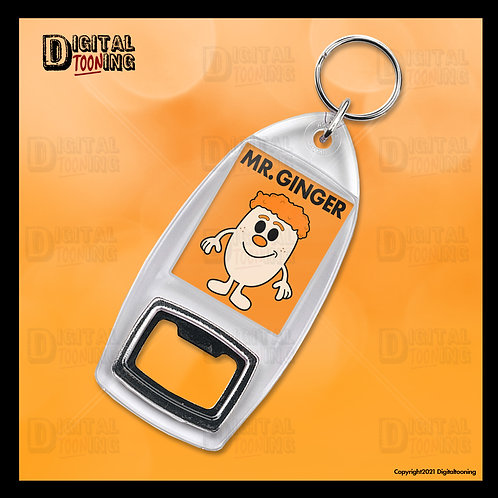 Mr Ginger Keyring + Bottle Opener