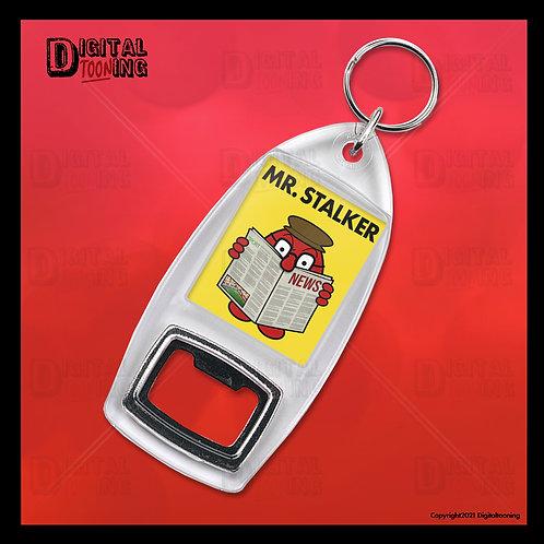 Mr Stalker Keyring + Bottle Opener
