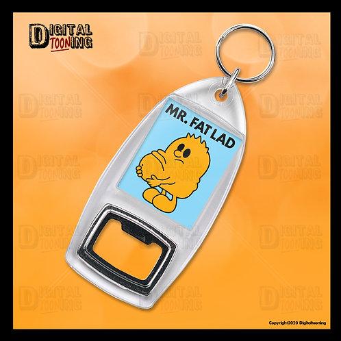 Mr Fat Lad Keyring + Bottle Opener