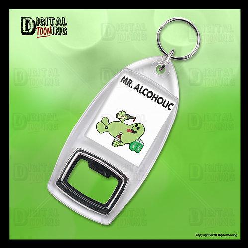 Mr Alcoholic Keyring + Bottle Opener