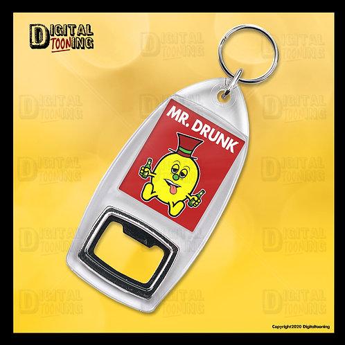 Mr Drunk Keyring + Bottle Opener
