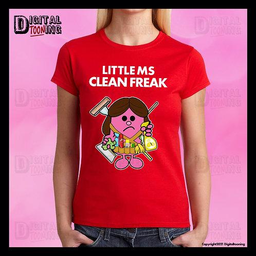Little Ms Clean Freak T-Shirt