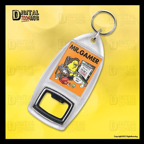 Mr Gamer Keyring + Bottle Opener