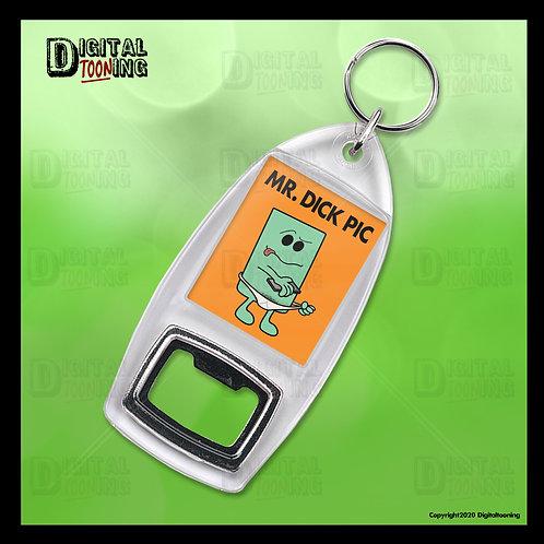 Mr Dick Pic Keyring + Bottle Opener