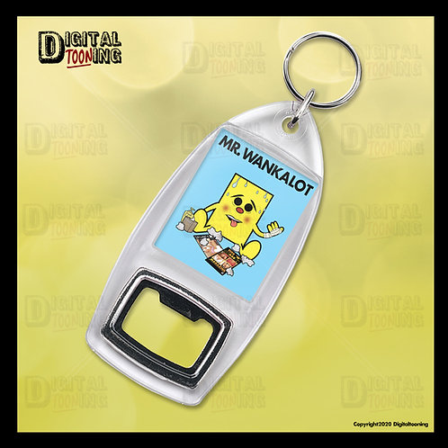 Mr Wankalot Keyring + Bottle Opener