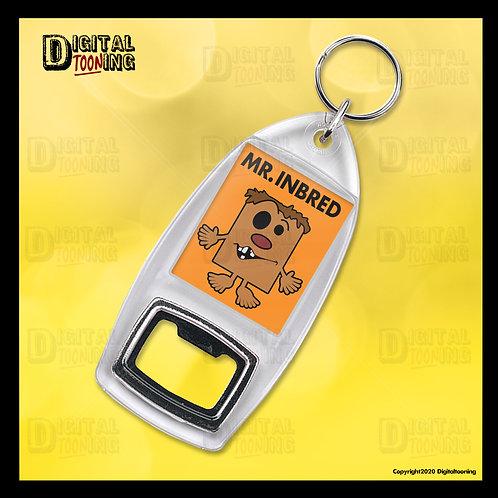 Mr Inbred Keyring + Bottle Opener