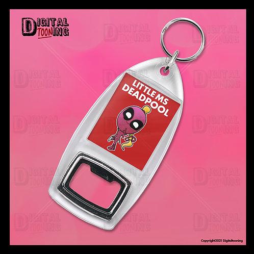 Little Ms Deadpool Keyring + Bottle Opener