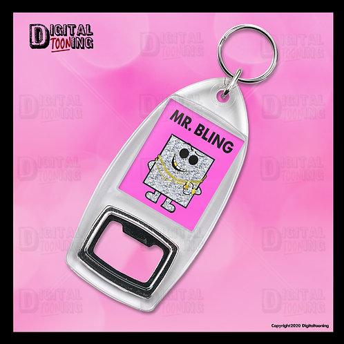 Mr Bling Keyring + Bottle Opener
