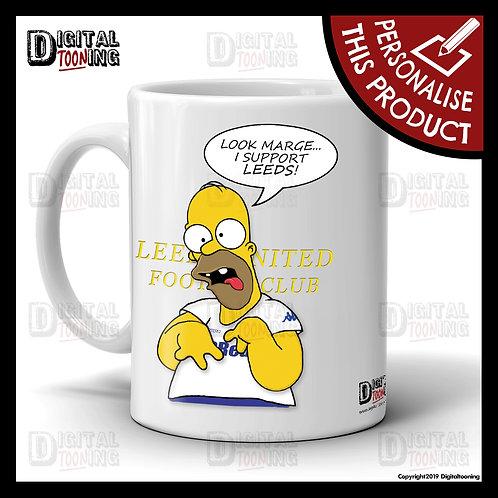 Special Homer - Leeds United Mug