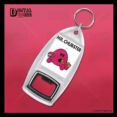 Mr Chubster Keyring + Bottle Opener
