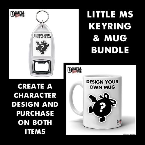 Design your own 'Little Ms' Mug & Keyring Set