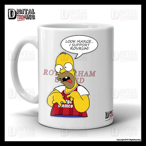 Special Homer - Rotherham United Mug