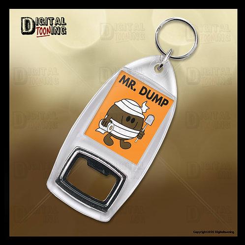 Mr Dump Keyring + Bottle Opener