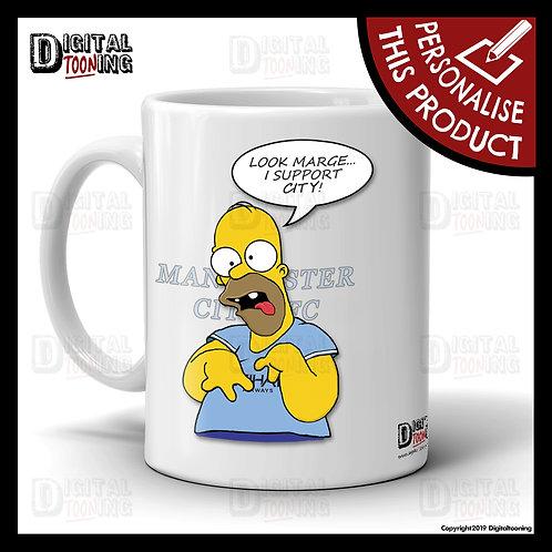 Special Homer - Manchester City Mug