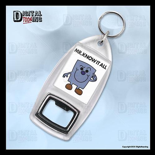 Mr Know It All Keyring + Bottle Opener