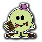MM0110 - Mr Chocoholic 3x3 inch square.p