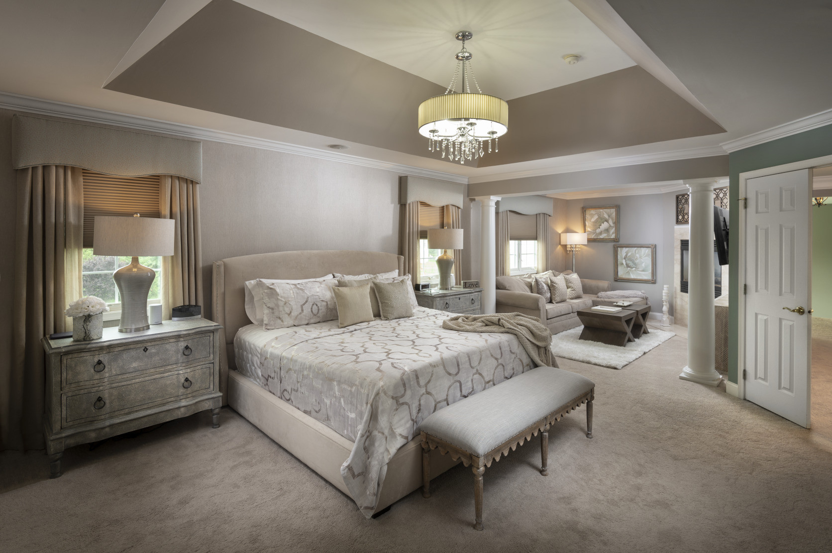 Chesterfield, NJ: Transitional Master Bedroom Decor