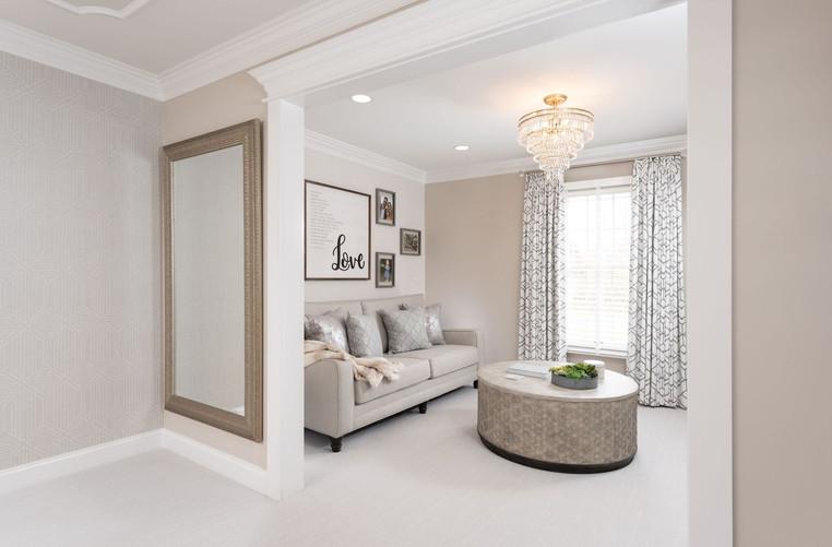 Ambler, PA: Transitional Master Bedroom & Sitting Room